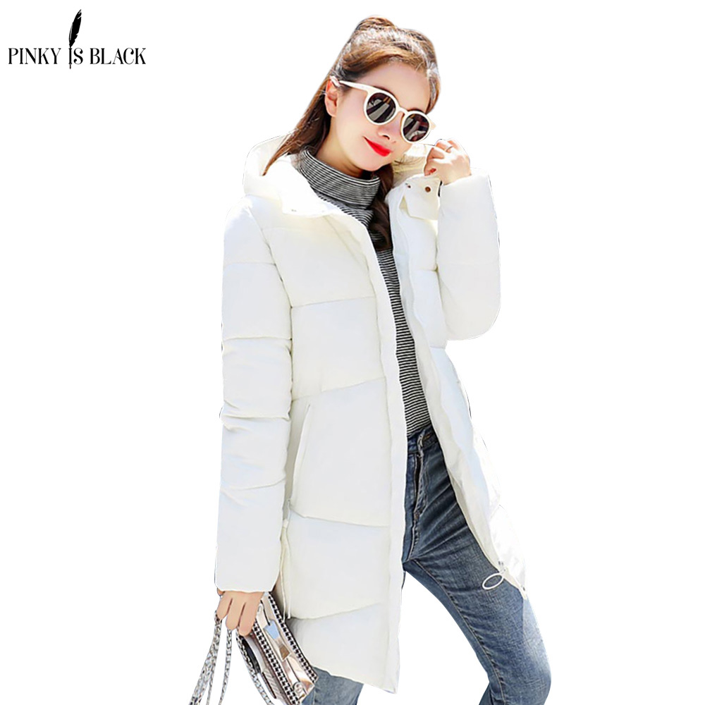 PinkyIsBlack winter jackets womens coats 2019 new fashion winter coat women long   parkas   Hooded Thick Warm Down Cotton Outwear
