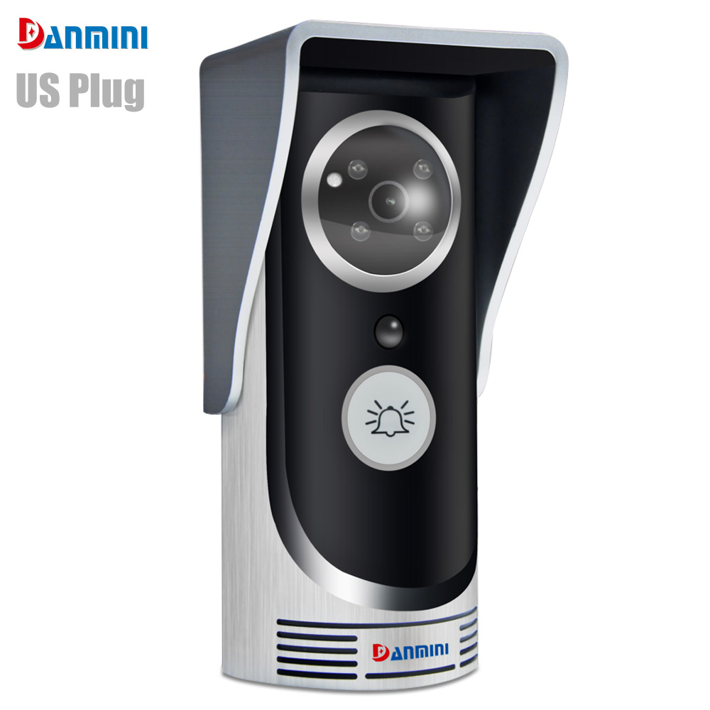 Danmini Multi-functional WiFi Visible 1MP Doorbell CMOS Remote Video Intercom Unlock Motion Detection Night Vision for Home Use kinco night vision video doorbell smart home wifi remote control hd waterproof dtmf motion detection alarm for phone