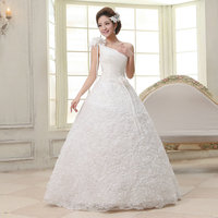 LAMYA One Shoulder Sweetheart Wedding Dresses 2018 Rose Flowers Bridal Gowns Women Elegant Wed Dress robe de mariee