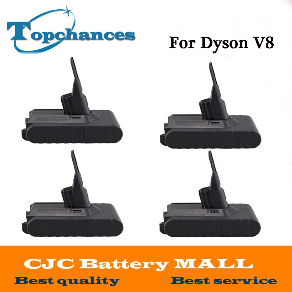 High Quality 4PCS New 21.6V 2800mAh Rechargable Li-ion Battery for Dyson V8 Vacuum Cleaner power tool replacement battery 21 6v 2800mah rechargable li ion battery for dyson v8 vacuum cleaner rechargeable battery