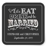 1.5inch Chalkboard Style Personal Wedding Favor Stickers