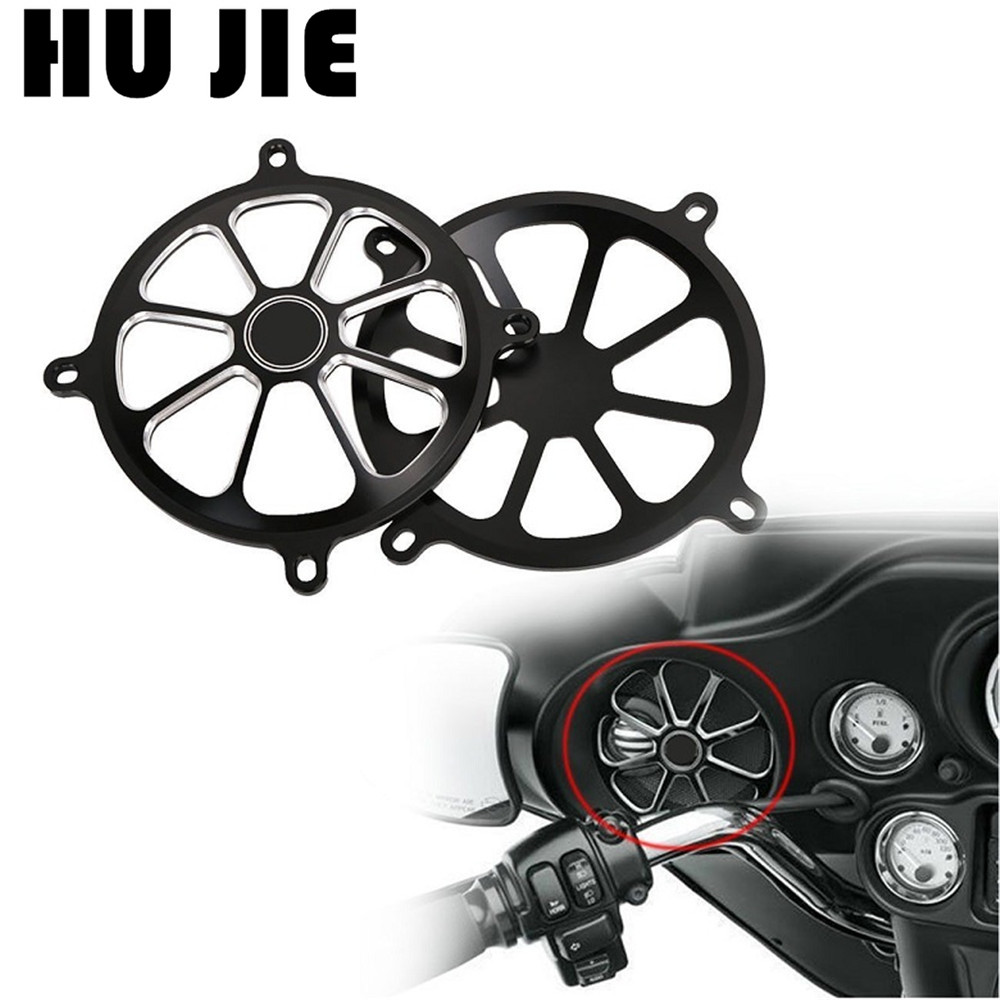 For Harley Touring Street Glide FL Trike 1996 2013 01 02 03 04 05 06 Motorcycle CNC Audio Fairing Mount Speaker Grill Cover