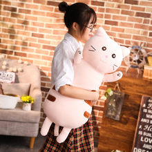 Cute Plush Cat Toys Sofa Pillow Cushion Stuffed Animal Cat Toy Soft Doll for Children Pusheen Plush Doll Kids Birthday Gift Xmas(China)