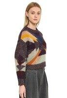 Новинка 2019 года Mohairl свитер геометрический узор 1 цвета 3 размера зимняя одежда для женщин