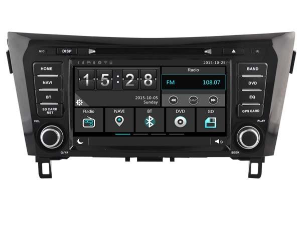 Car Gps Dvd Head Unit Radio for Nissan Qashqai X-Trail Rogue 2014-2015 Navigation PhoneMirror HD Multimedia 3G WIFI DVR SWC