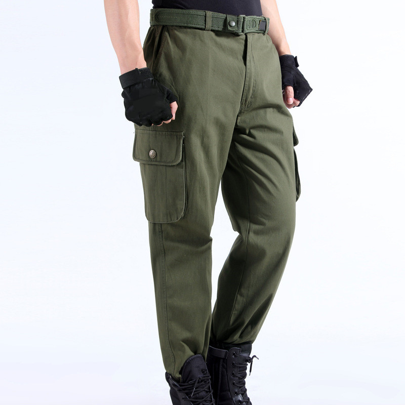 Work Pants Men's Auto Repair Labor Insurance Welding Factory Work Clothes Trousers Cotton Safety Clothing Pants Wear