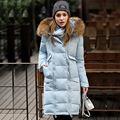 New Fashion Winter Jacket Women 2016 Luxury Large Real Raccoon Fur Collar Hooded Jacket Thick Coat For Women Outwear Parka