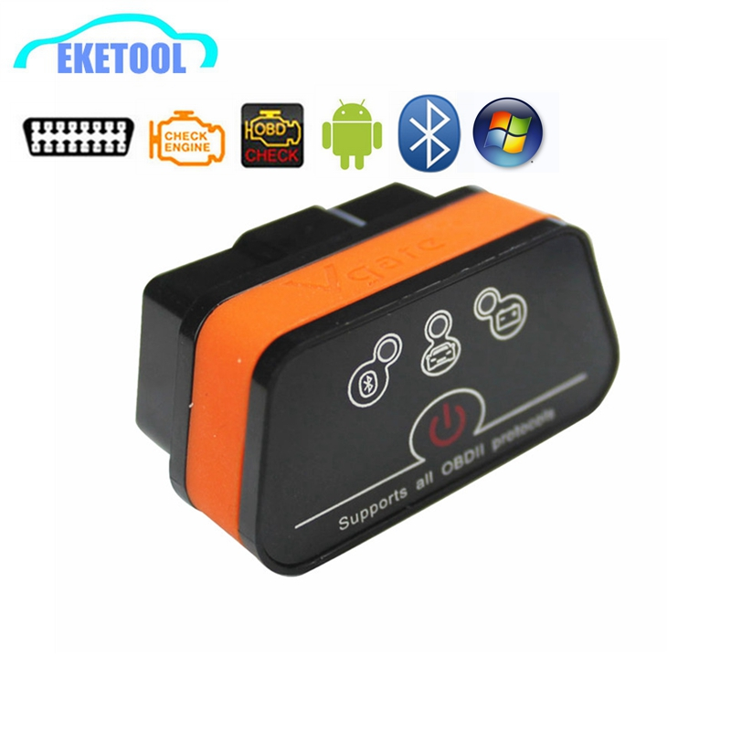 High Function OBD OBDII Tool ELM327 Bluetooth Vgate ICar2 Works Android/PC New Switch Reset Function ELM 327 OBD2 Interface