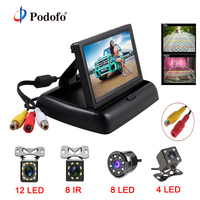 4 3 Inch HD Foldable Car Rear View Monitor Reserving Color Digital LCD TFT Display Screen