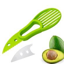 Многофункциональный 3-в-1 авокадо Slicer Ши нож для удаления сердцевины и нарезания масла нож резак фруктов целлюлозно-сепаратор Пластик Ножи Кухня фруктов и овощей