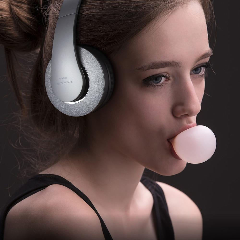Apoio Mp3 Player com Microfone sem fio Fone de Ouvido Estéreo Bluetooth fone de Ouvido Sem Fio para Smartphone com 250mAh Da Bateria