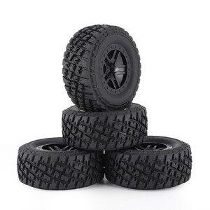 Image 2 - Комплект резиновых колес AUSTAR 110 мм, 4 шт., комплект запасных частей для модели гусеничного автомобиля Traxxas Slash 4X4 RC4WD HPI HSP