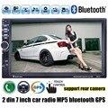 2 din 7 дюймов Автомобиля Радио 8 Г карты avialable MP5 MP4 Плеер GPS Стерео FM USB TF bluetooth рулевого колеса управления