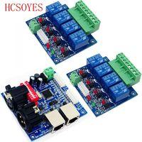 2 قطعة 4CH التتابع التبديل dmx512 تحكم ، 1xDMX512 XRL RJ45 ، إخراج التتابع ، DMX التحكم التتابع ، 4way التتابع التبديل (ماكس 10A)