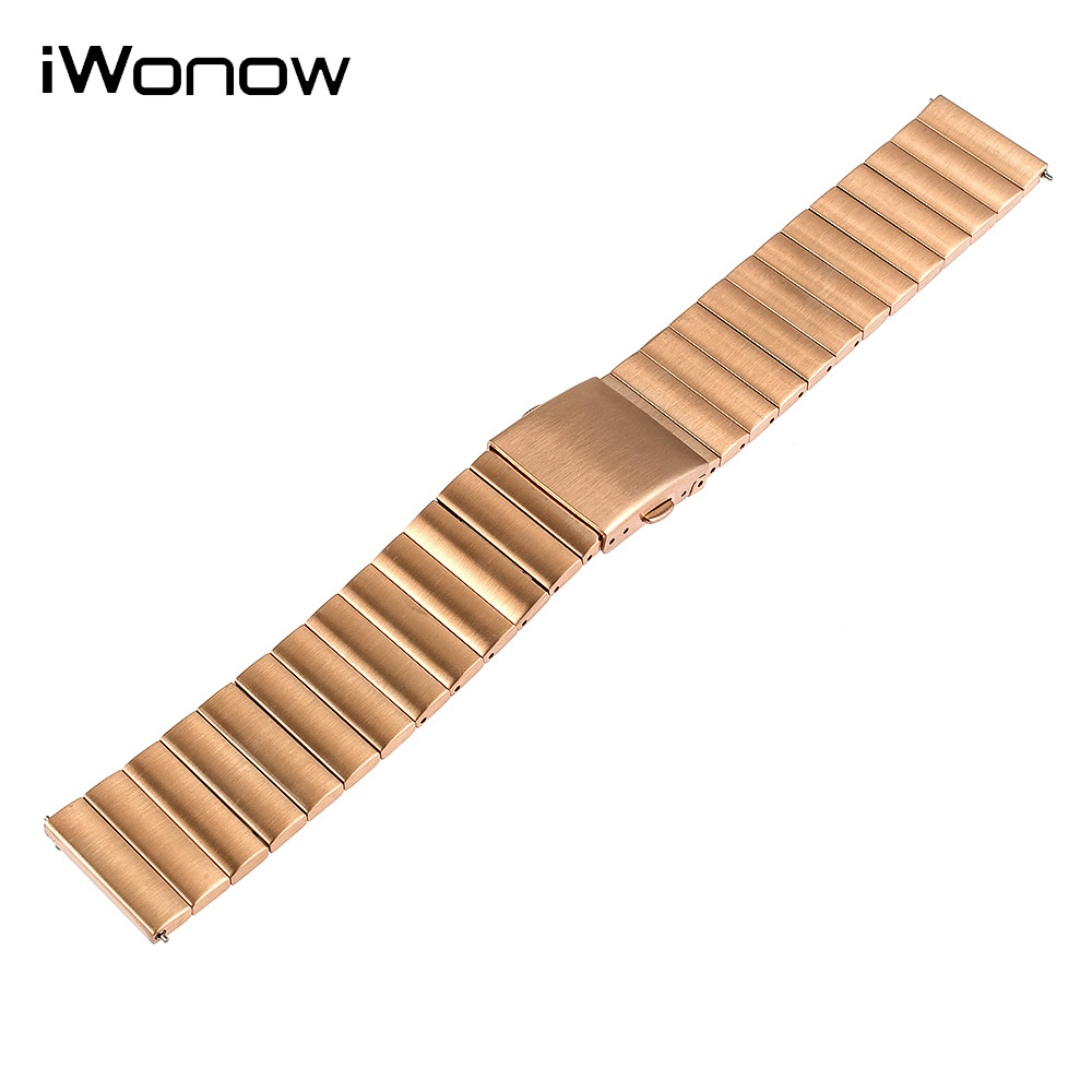 Stainless Steel Quick Release Watch Band 22mm for Samsung Gear S3 Classic / Frontier Folding Buckle Strap Wrist Belt Bracelet 22mm quick release ceramic watch band for samsung gear s3 classic frontier steel butterfly buckle strap wrist belt link bracelet