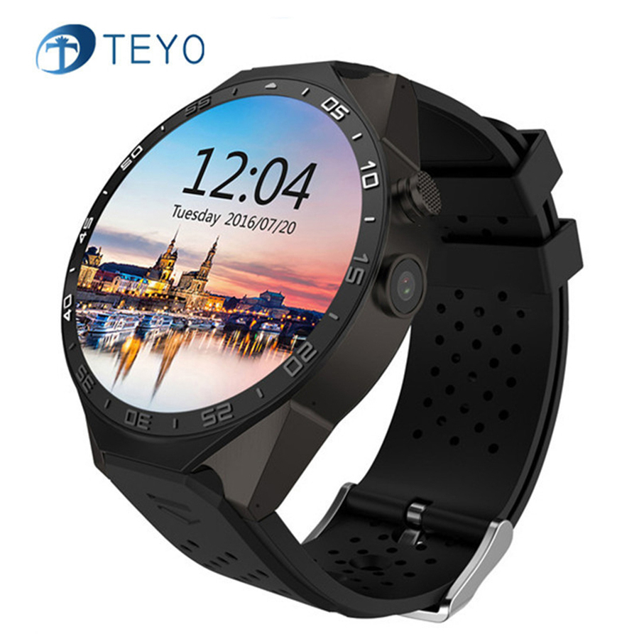 Teyo kw88 Смарт Часы Heart Rate Мониторы 1.39 дюймов MTK6580 Процессор Android 5.1 3G sim-карты WI-FI GPS Камера Bluetooth smartWatch ...