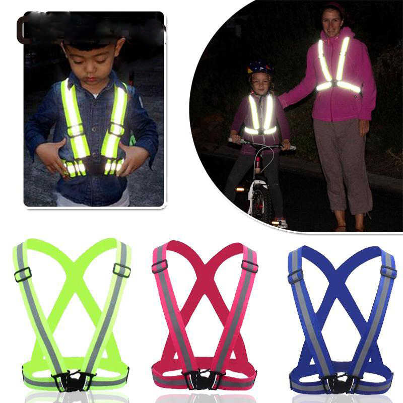 Kids Reflective Vest Children Cycling Reflective Tape Outdoor Running  Reflective fabric Safety Stripes Safe Jacket for 16d2ffc14