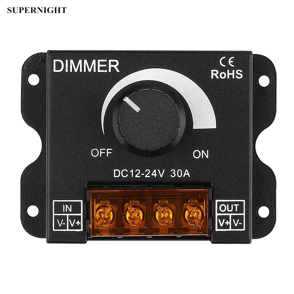 SuperNight переключатель ручка диммер DC 12 В 24 в 0-100% один цвет контроллер для 5050 5630 3538 светодиодные ленты свет гибкая лампа группа
