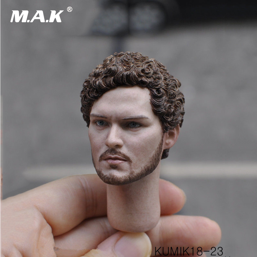 KUMIK18-23 Head Sculpt 1/6 Scale Male Action Figure Accessory with Neck for 12 inches Man Figure Body 1 6 scale european male head sculpt model headplay without neck for 12 action figure body figure