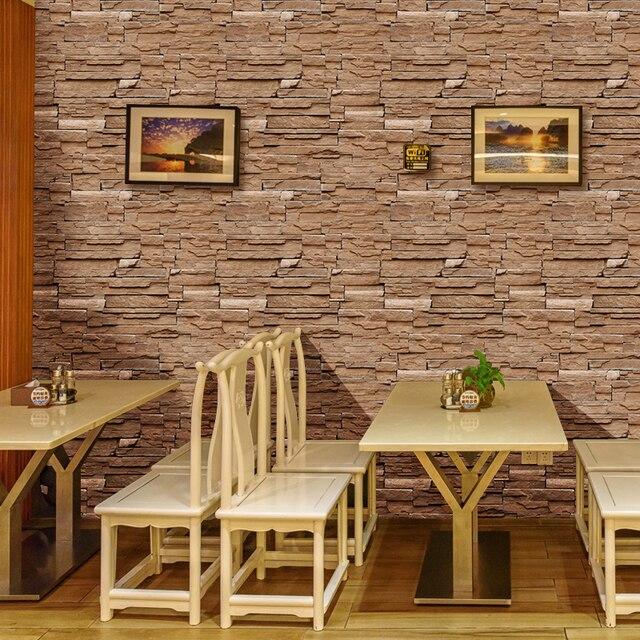 حجر الطوب جدار خلفية لفة papel دي parede ثلاثية الأبعاد غرفة المعيشة حائط الخلفية فن الديكور ورق حائط ST-1031 4