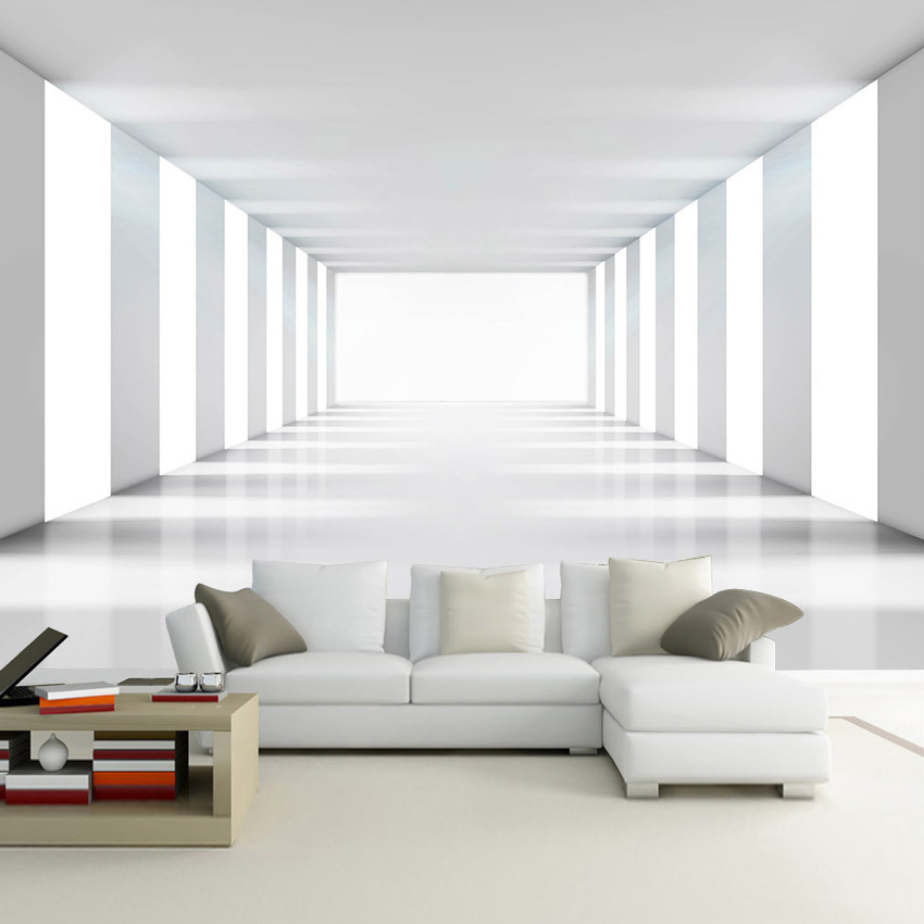 Custom size 3d modern minimalist space expansion living for Contemporary minimalist spaces