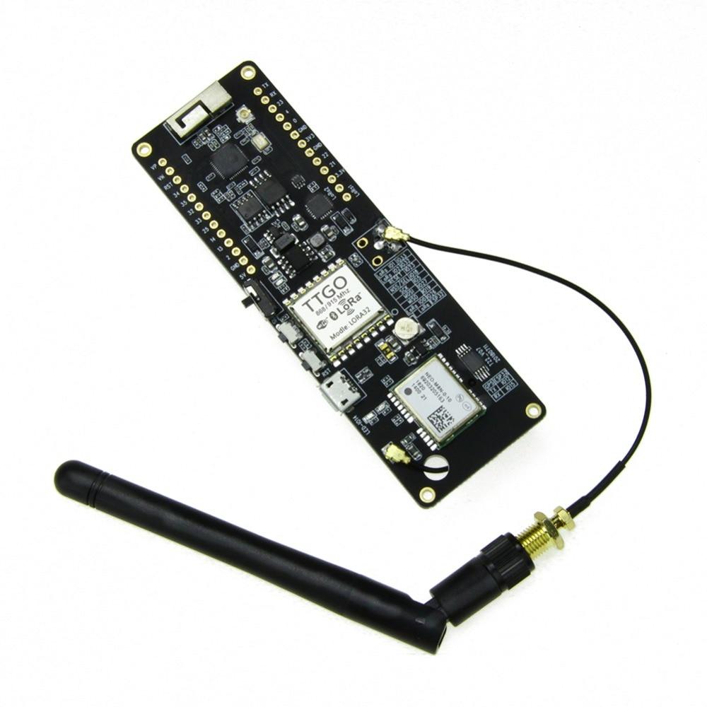 TTGO T-Beam 433MHZ/868MHZ/915MHZ ESP32 WiFi wireless Bluetooth Module ESP 32 GPS NEO-M8N SMA LORA 32 18650 Battery holderTTGO T-Beam 433MHZ/868MHZ/915MHZ ESP32 WiFi wireless Bluetooth Module ESP 32 GPS NEO-M8N SMA LORA 32 18650 Battery holder