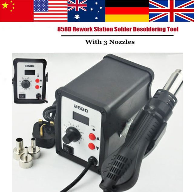 700W Hot Air Gun 858D ESD Soldering Station LED Digital Desoldering Station Iron font b Tool