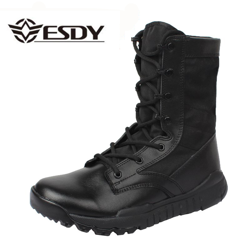 Men Ankle Work Boots Combat Shoes Super Light Tactics Boots Desert Military Shoes Breathable Boots