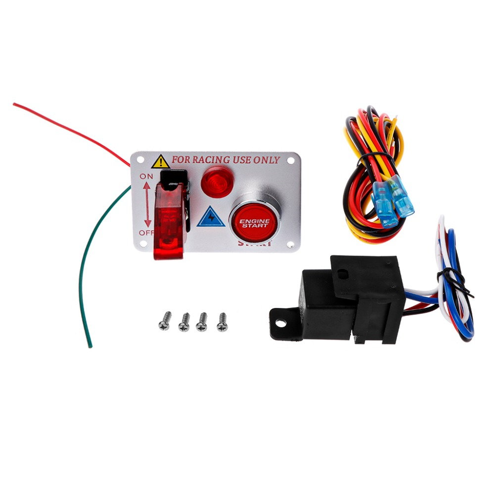 2 Aviation Panneau Interrupteur Qualité Allumage Rouge Démarrage