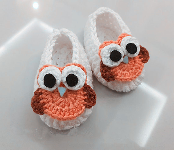 Crochet Baby Shoes Infant First Walkers Shoes Toddler Shoes Handmade