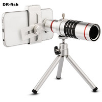 Universal 18X Zoom Clip Mobile Phone Lens Telescope Telephoto For Iphone 5S SE 6 6S 7