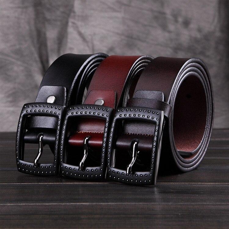 man belt high quality 2 colors 120cm long 3.4 cm width