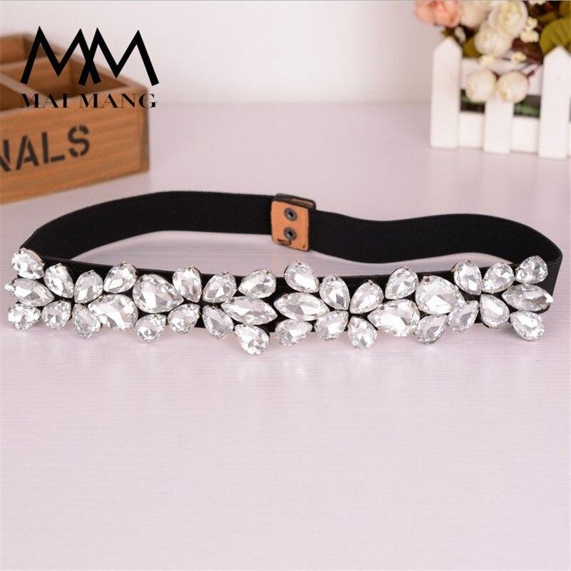 Moda rhinestone del embutido moda coreana salvaje señoras bellas cinturones elásticos cintura estrecha cuero cinturones CC80013