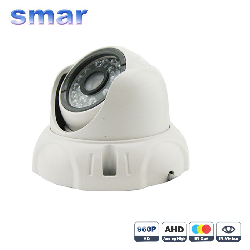 CCTV Analog High Definition Surveillance Dome Camera 1.0MP/1.3 720P/960P AHD Camera Security Indoor IR 20M IR-Cut Filter Metal free shipping 960p 1 3mp ahd analog high definition ir 30m 2pcs array led ir dome camera for 500m coaxial cable