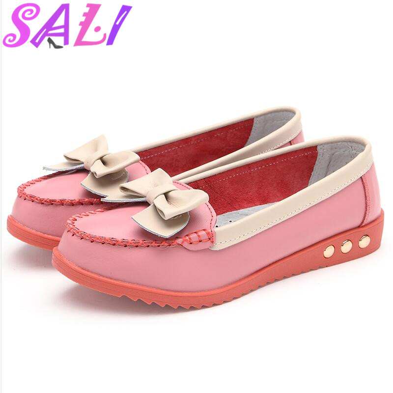 10 colors new big yards Spring Peas shoes comfortable flat shoes shallow mouth single shoes women shoes bow section