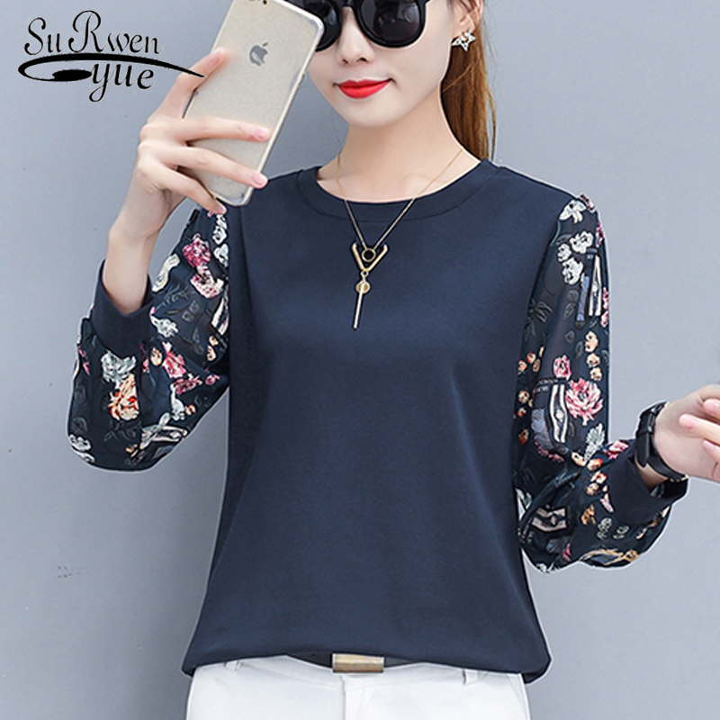long sleeve wome   shirts   winter   blouse   fashion womens tops and   blouses   2019 printed   blouse     shirt   plus size women clothing 0595 60