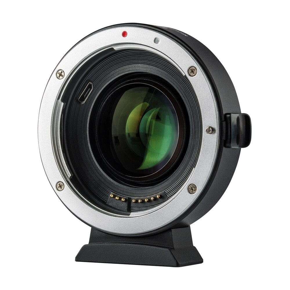 Viltrox EF-EOS M2 Mise Au Point Automatique 0.71x Réducteur Vitesse Booster Lens Mount Adapter pour Canon EF Lens pour Canon M5 M6 m10 M50 M10 Caméra