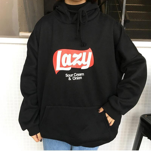 cd9ba5cf23277 Korean Version Loose Hooded Harajuku Thick Coat Jacket Lazy Tops Sweatshirt  Women tracksuit Fleece Hoodies Sweatshirt