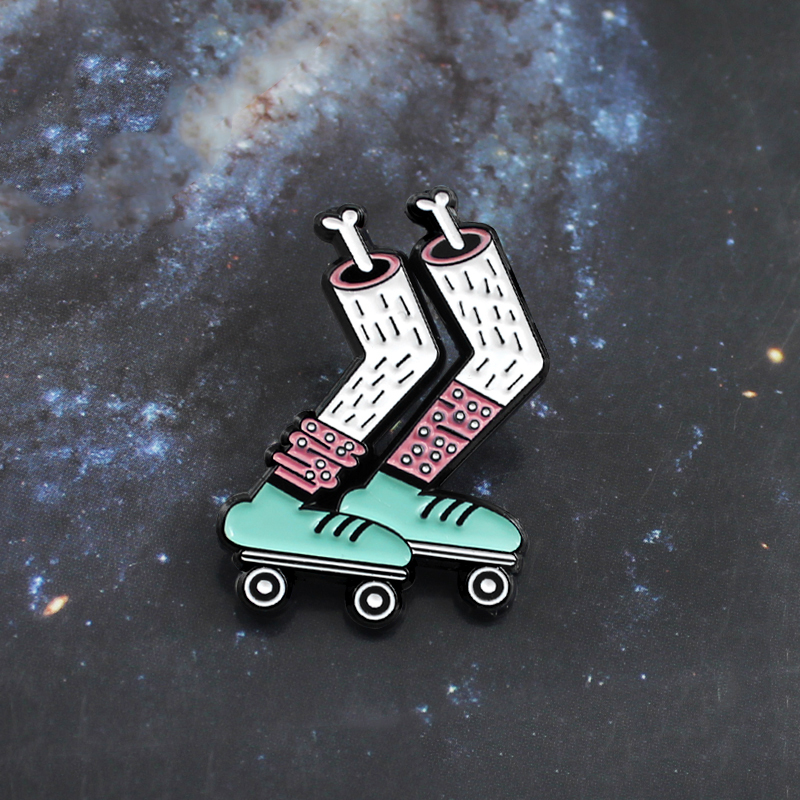 Home & Garden Hard-Working Roller Skates Lapel Pin Badges For Clothes Skating Shoes Rozety Papierowe Icon Backpack 1pcs Xy0326