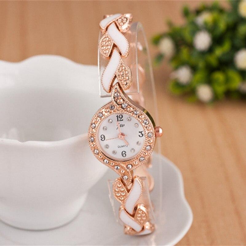 2019 nowy marka JW bransoletki z zegarkiem kobiety luksusowy kryształ sukienka zegarki na rękę zegar moda damska zegarek kwarcowy na co dzień reloj mujer 4