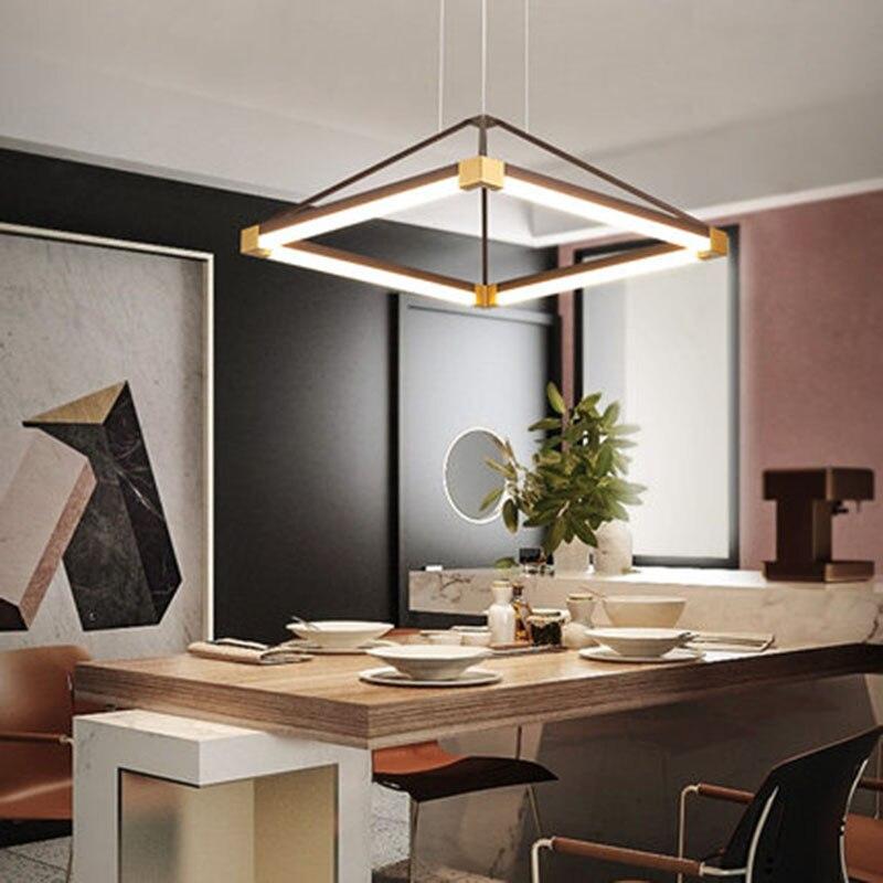 Lustre led moderne pour cuisine salle à manger salon Suspension luminaire acrylique Lustre Avize maison lustres éclairages