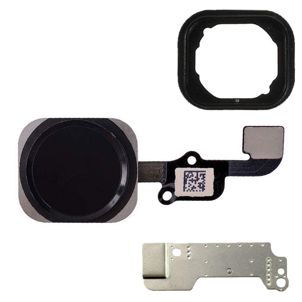 3pcs/lot HOUSTMUST Home Button For IPhone 6S 6s Plus Home Button Flex Cable With Metal Bracket And Rubber Gasket Assembly