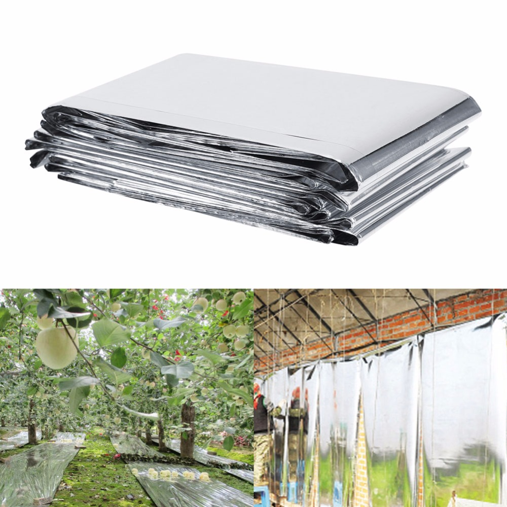 Garden Greenhouse PETP Plant Reflective Film Cover Solar Transmitting For Plant  210 X 120cm Grow Film Garden Accessories