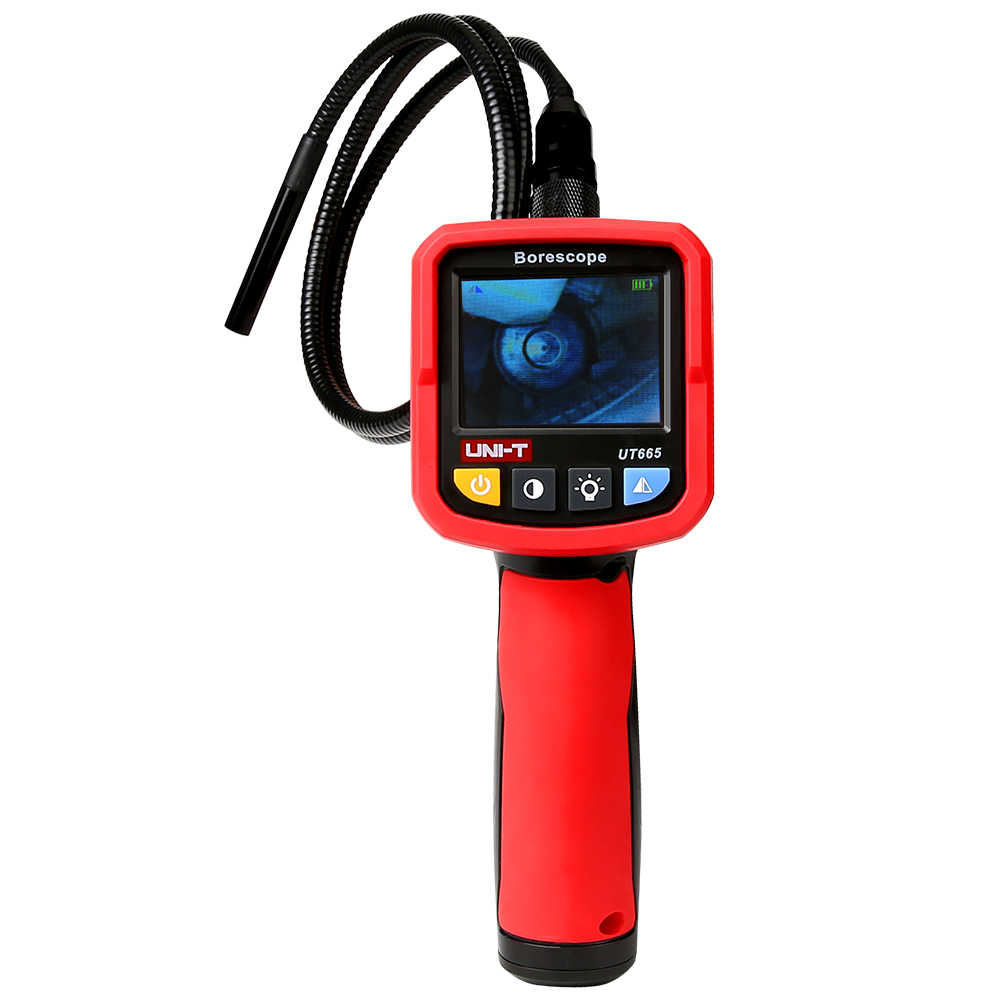 UT665 Industrial Borescope Professional Endoscope Vehicle Maintenance Inspection Pipeline Detector with Waterproof Snake Camera
