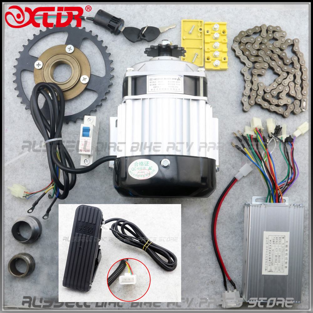 24v36v 350w Electric Scooter Motor Unitemotor My1016 Use 25h Chain E Bike Throttle Wiring Diagram Bm1418zxf 48v 500w Brushless With Pedals Bicycle Kit Tricycle Diy
