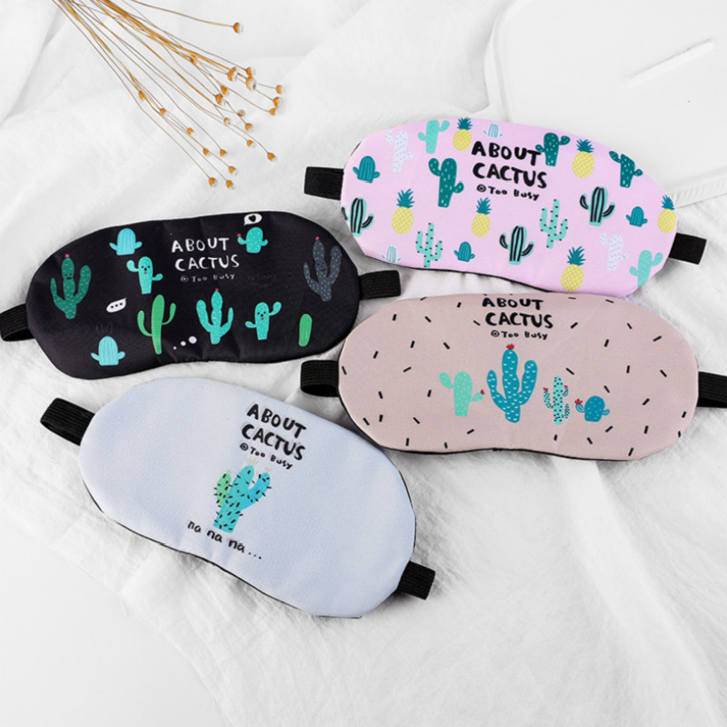 Cute Cartoon Eye Cover Travel Relax Sleeping Aid Mask Comfortable Eyepatch Sleep Mask
