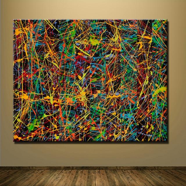 2016 nummer 5 1948 Джексон Поллок Росписи изображение лист 70x90 cm Главная Декоративное Искусство Краска на холсте