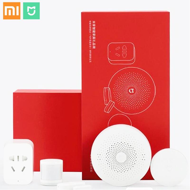 Xiaomi Mijia contrôle intelligent ensemble de sécurité multifonctionnel APP contrôle passerelle fenêtre/capteur de corps commutateur sans fil WiFi prise ZigBee