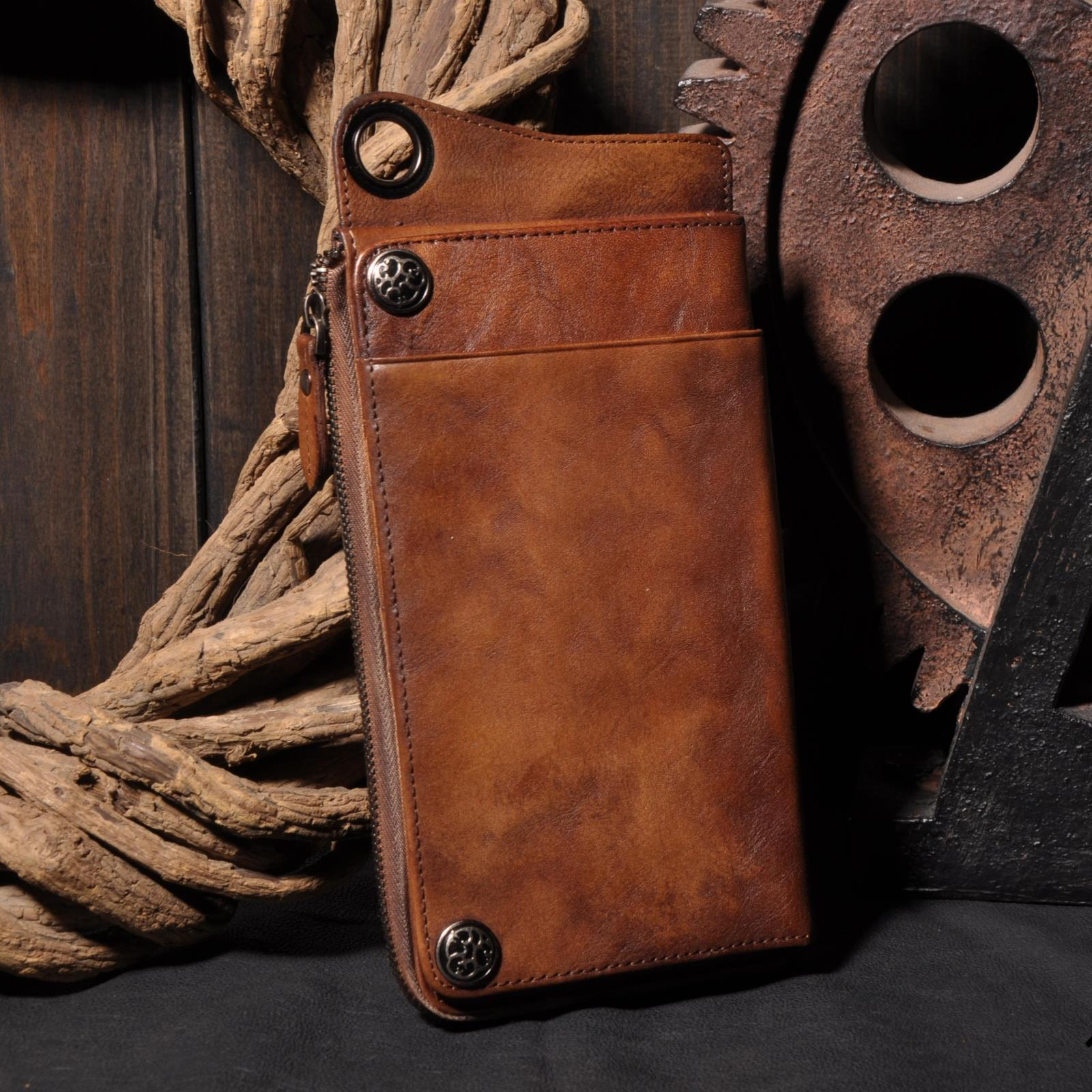 ФОТО Do the old leather wallet men long section of a large capacity zippered leather Europe BB200