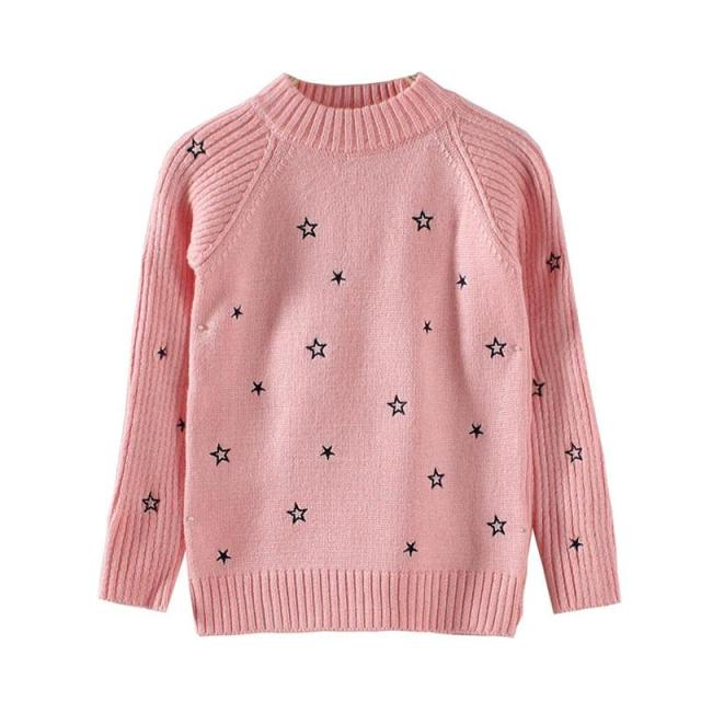 754fdcd3f9a1 Children new winter autumn sweater girls five pointed star ...